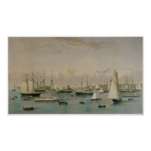 The Yacht Squadron at Newport, 1872 Posters