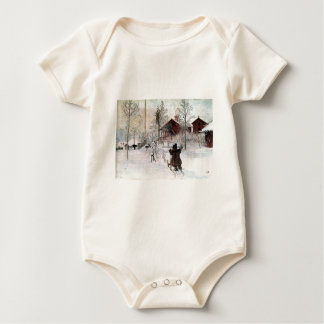 The Yard and Wash-House, Carl Larsson Baby Bodysuit