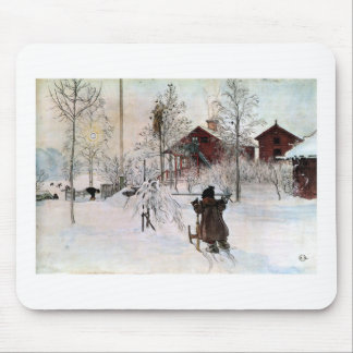 The Yard and Wash-House, Carl Larsson Mouse Pad