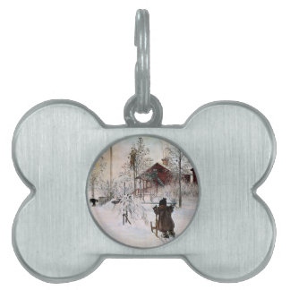 The Yard and Wash-House, Carl Larsson Pet Name Tag
