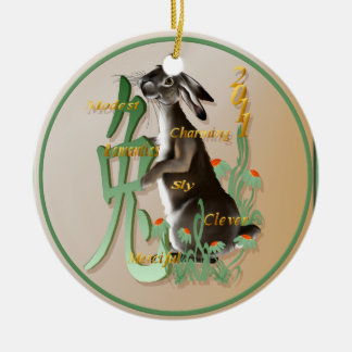 The Year Of The Rabbit-Ornaments Ceramic Ornament