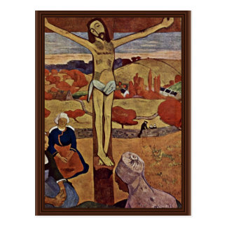 The Yellow Christ,  By Gauguin Paul (Best Quality) Postcard