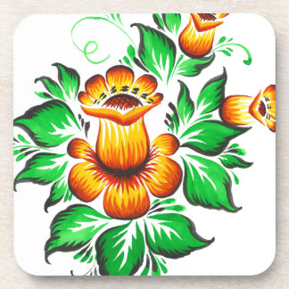 The yellow flowers beverage coaster