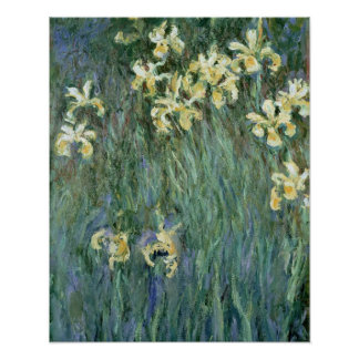 The Yellow Irises (oil on canvas) Posters