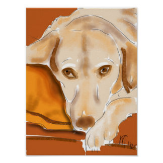 The Yellow Lab Poster