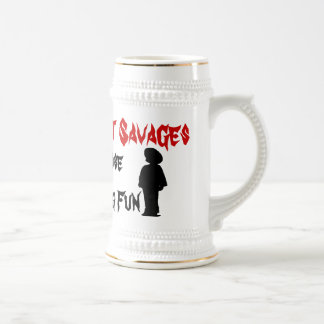The Yellow Lot Savages Skeleton Mug
