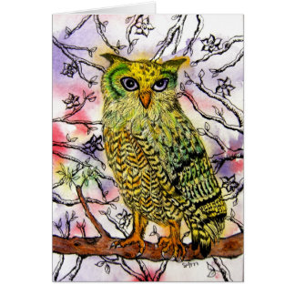 The Yellow Owl Notecard