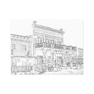 The Yellow Rose Saloon and Dance Hall Canvas Print