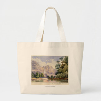 The Yo-Semite Fall. 2,634 ft. Large Tote Bag