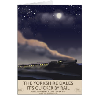The Yorkshire Dales Railway poster Card