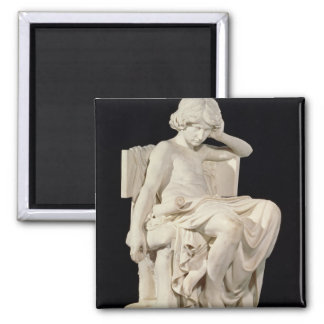 The Young Aristotle, 1870 Square Magnet