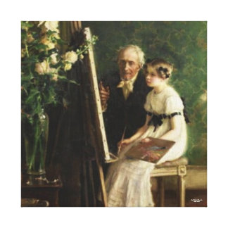 The Young Artist by Muenier Canvas Print