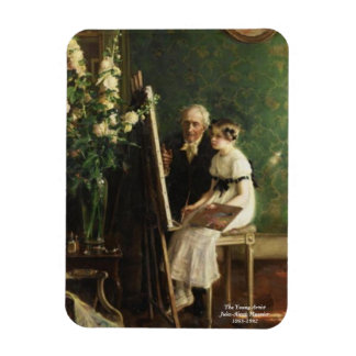The Young Artist by Muenier Rectangular Photo Magnet