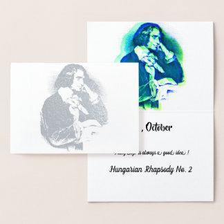 the young Franz Liszt - silver portrait Foil Card