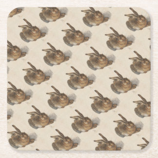 The Young Hare Square Paper Coaster