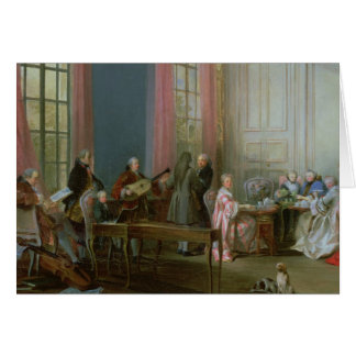 The Young Mozart at the clavichord Card