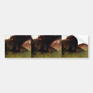 The Young Shepherdess by Gustave Courbet Bumper Stickers