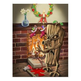 The Yule Logs Revenge Postcard