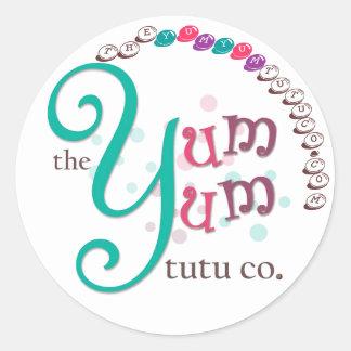 The Yum Yum Tutu Co. Round Sticker