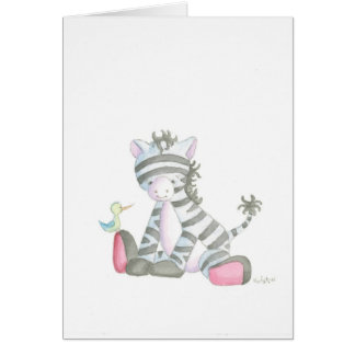 The Zebra Greeting Card