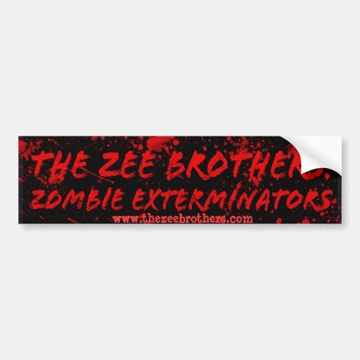 The Zee Brothers:Zombie Exterminators Logo 1 Bumper Sticker
