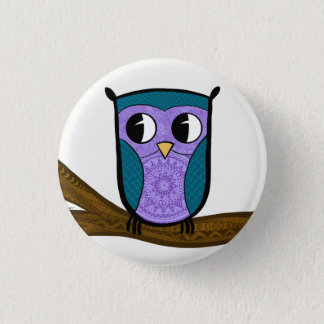 The Zen Owl 3 Cm Round Badge