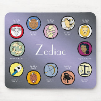 The zodiac mouse pad