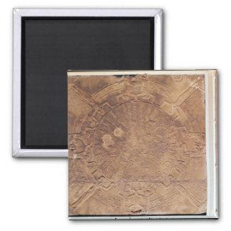 The Zodiac of Dendarah Square Magnet