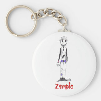 The Zombie Basic Round Button Key Ring