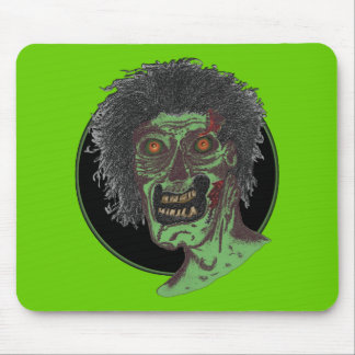 the Zombie! (Black Circle) Mouse Pad