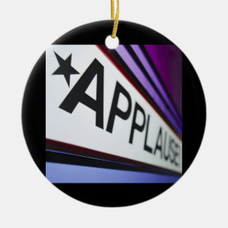 Theater Applause Sign Ceramic Ornament