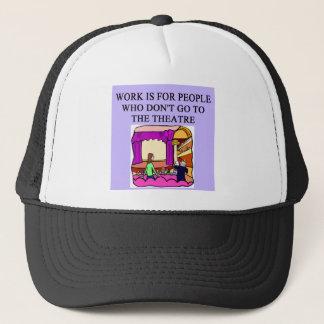 theater beats work trucker hat