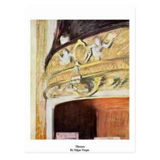 Theater By Edgar Degas Postcard