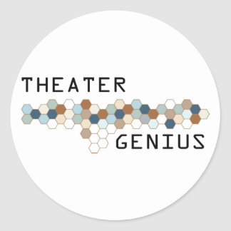 Theater Genius Classic Round Sticker