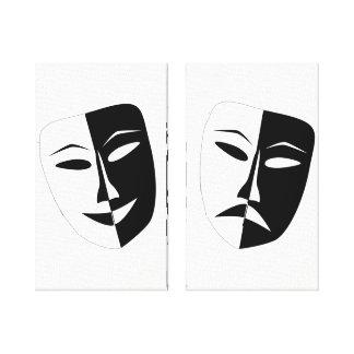 Theater Masks Canvas Print