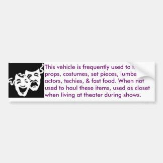 theater-mobile bumper sticker