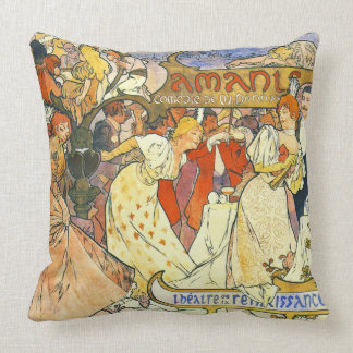 Theater Poster 1895 Cushion