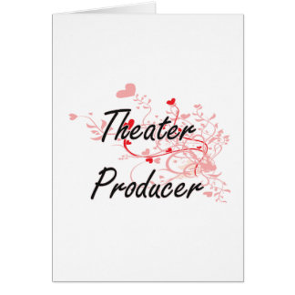 Theater Producer Artistic Job Design with Hearts Greeting Card