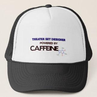 Theater Set Designe Powered by caffeine Trucker Hat