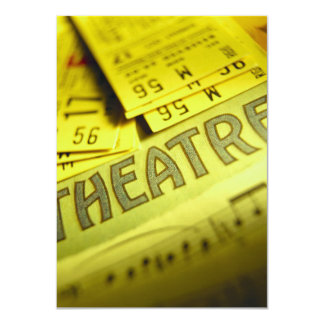 Theater Sheet Music & Tickets 11 Cm X 16 Cm Invitation Card