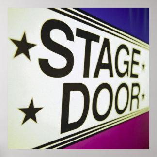 Theater Stage Door Sign