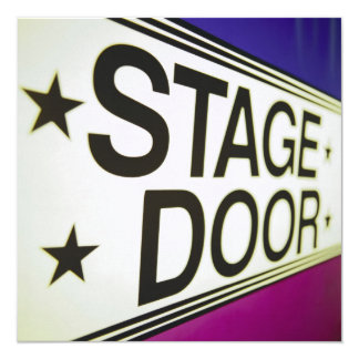 Theater Stage Door Sign Card