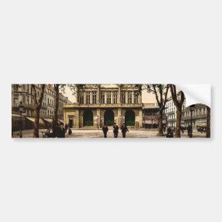 Theatre and promenade, Beziers, France classic Pho Bumper Sticker