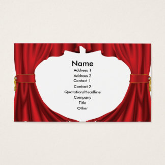 Theatre curtains business card design