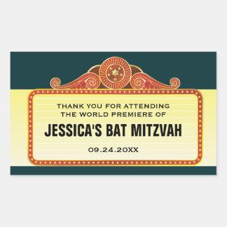 Theatre Marquee Bar Bat Mitzvah Rectangular Sticker