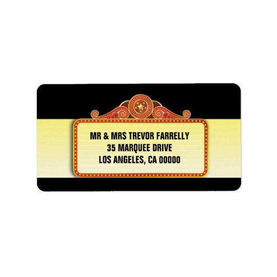 Theatre Marquee Return Address Label