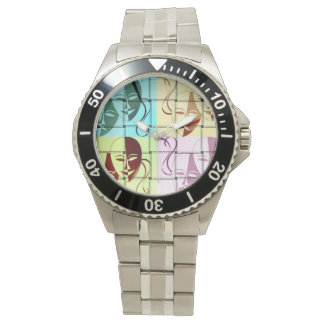 Theatre Mask Pop Art Watch