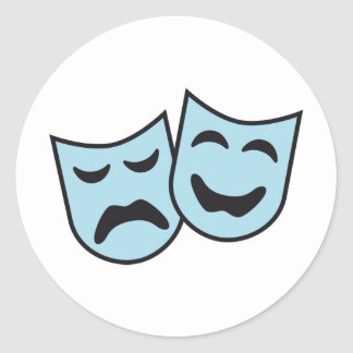 theatre MASKs Classic Round Sticker
