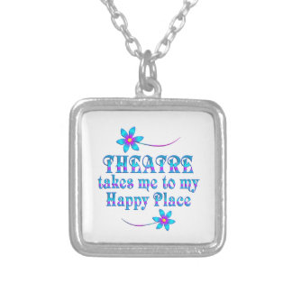 Theatre My Happy Place Silver Plated Necklace