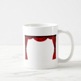 Theatre or cinema curtains coffee mug